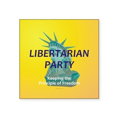Libertarian Party campaign buttons and stickers