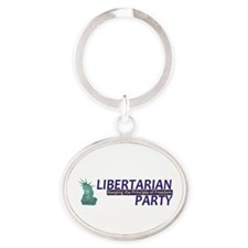 Libertarian Party Oval Keychain