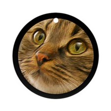 Artful Cat Ornament (Round)