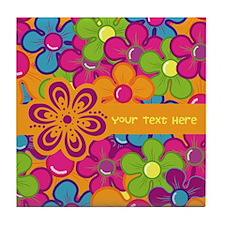 Flower Collage Tile Coaster