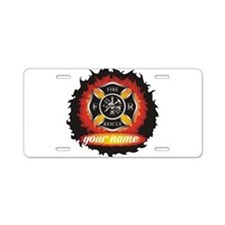 Personalized Fire and Rescue Aluminum License Plat