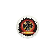 Personalized Fire and Rescue Mini Button