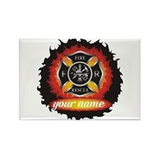 Personalized Fire and Rescue Rectangle Magnet (100