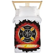 Personalized Fire and Rescue Twin Duvet