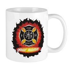 Personalized Fire and Rescue Small Mug