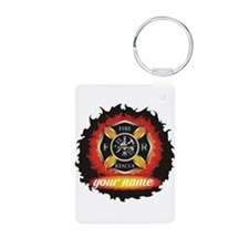 Personalized Fire and Rescue Keychains