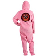 Personalized Fire and Rescue Footed Pajamas