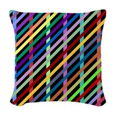 Streamers Woven Throw Pillow