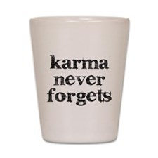 Karma Never Forgets Shot Glass