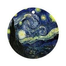 Starry Night Ornament (Round)