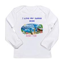 Long Sleeve Infant T-Shirt SURFER MOM