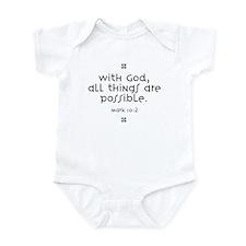 With God Infant Bodysuit