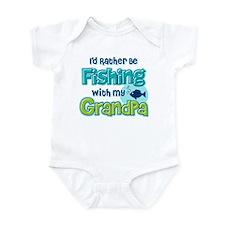 Rather Be Fishing Grandpa Onesie