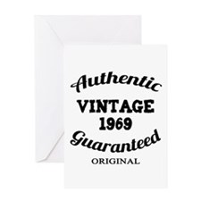 Authentic Vintage Birthday 1969 Greeting Card