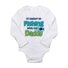 Rather Be Fishing Dad Long Sleeve Infant Bodysuit