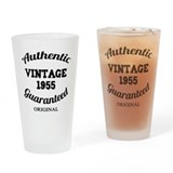 Authentic Vintage Birthday 1955 Drinking Glass