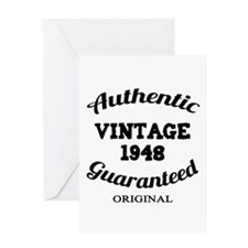 Authentic Vintage Birthday 1948 Greeting Card