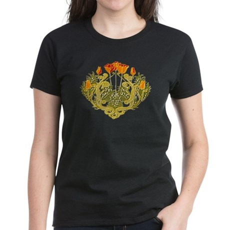 Medieval Floral Women's Dark T-Shirt