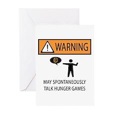 Warning Talk Hunger Games Greeting Card