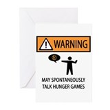 Warning Talk Hunger Games Greeting Cards (Pk of 20