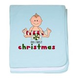 First Christmas (Boy 4 Design baby blanket