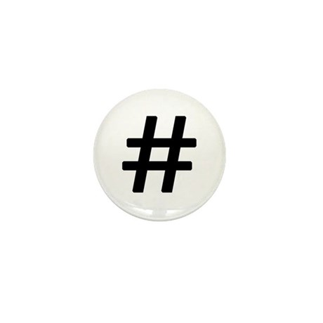 Vintage Pound Symbol Mini Button (10 pack)