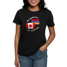 Armenia Canada Flag Heritage Tee