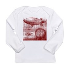 Steampunk Airship Long Sleeve Infant T-Shirt