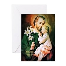 St Joseph Guardian of Jesus Greeting Cards (Pk of