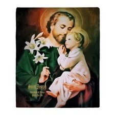 St Joseph Guardian of Jesus Throw Blanket