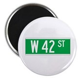 "W 42 St., New York - USA 2.25"" Magnet (100 pack)"