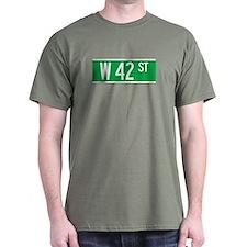 W 42 St., New York - USA T-Shirt