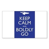 Keep Calm and Boldly Go Decal
