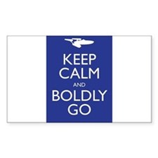 Keep Calm and Boldly Go Stickers