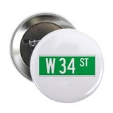 W 34 St., New York - USA Button