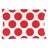 Poppy Red Polkadot Pillow Case