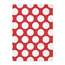 Poppy Red Polkadot 5'x7'Area Rug