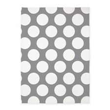 Pebble Grey Polkadot 5'x7'Area Rug