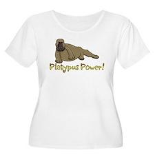 Platypus Power Plus Size T-Shirt