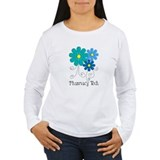 pharmacy tech flower blue Long Sleeve T-Shirt