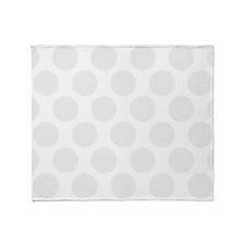 Light Grey Polkadot Throw Blanket