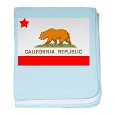 California Republic State Flag baby blanket