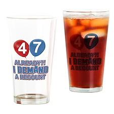 47 years birthday gifts Drinking Glass