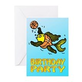 Birthday Basketball Fish invitation Greeting Cards