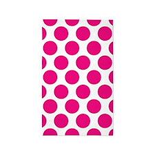 Hot Pink Polkadot 3'x5' Area Rug