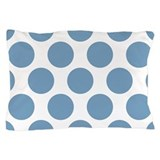 Soft Blue Polkadot Pillow Case
