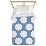 Soft Blue Polkadot Twin Duvet
