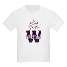 4th of July Fireworks letter W T-Shirt