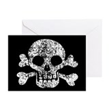 skull-worn_nc.jpg Greeting Cards (Pk of 20)