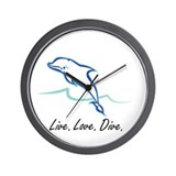 Live. Love. Dive. Wall Clock